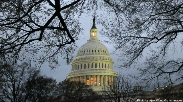 Lawmakers Work On Capitol Hill During The Final Hours Before Federal Budget Deadline