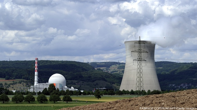 Leibstadt nuclear power plant is seen on