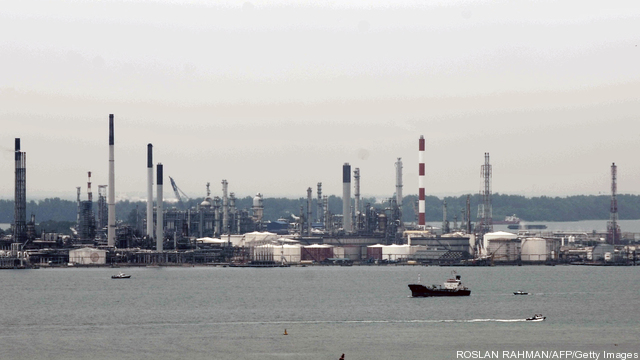 A view of the Royal Dutch Shell's Pulau