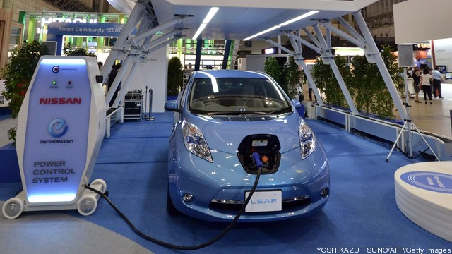 Japanese auto giant Nissan displays the