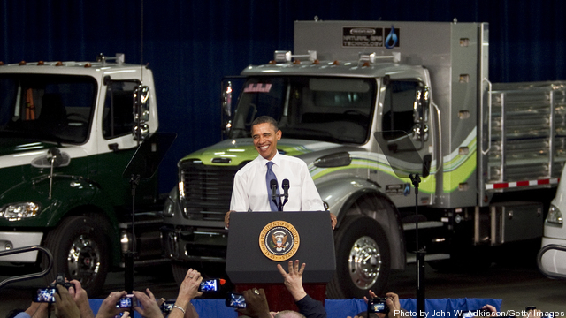 Obama Visits Daimler Trucks North America Plant In North Carolina