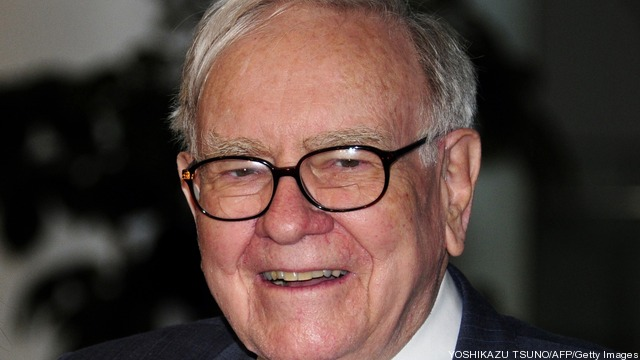 US billionaire Warren Buffett arrives at