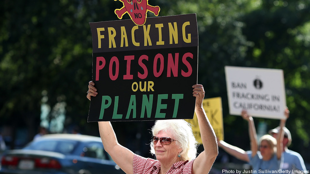 Activists Rally Against Fracking Outside California EPA Office