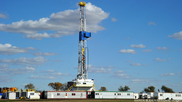 An oil drilling rig is seen September 29