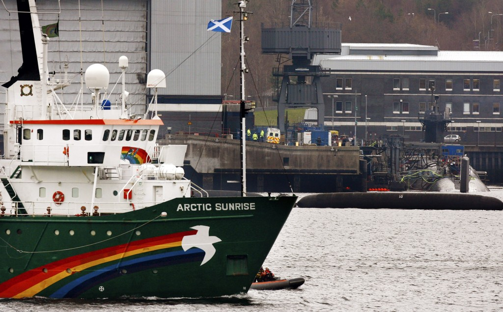 Greenpeace Blockades Faslane Naval Base