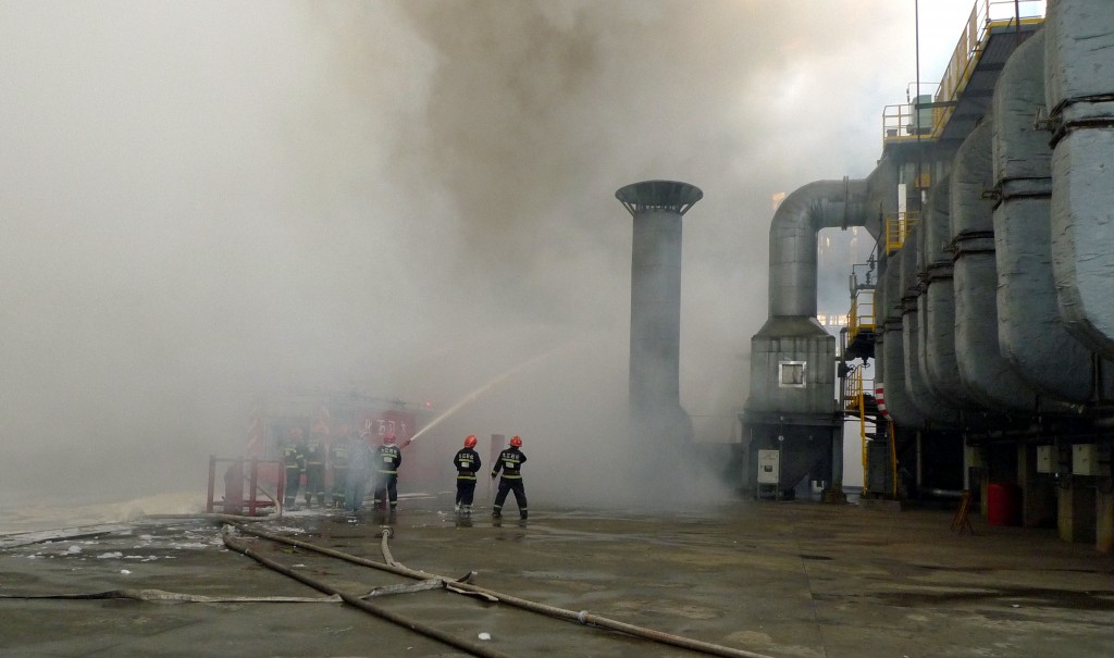 An Oil Refinery Ablaze In Jiujiang