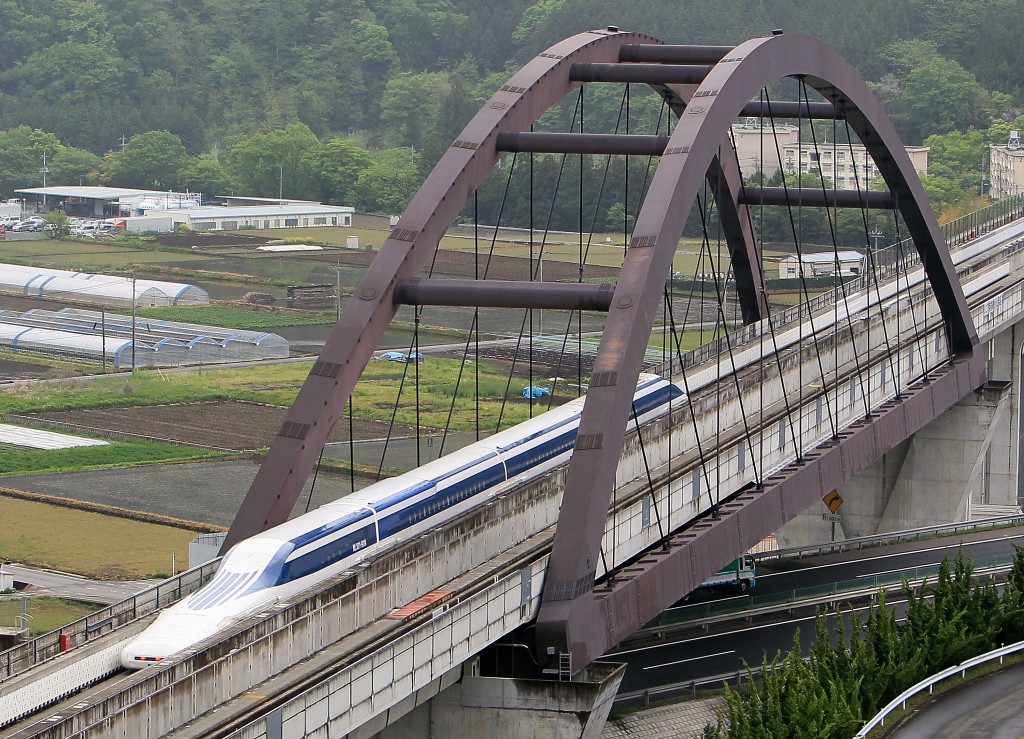 U.S. Transportation Secretary Ray LaHood Takes Japan's Maglev Test Ride