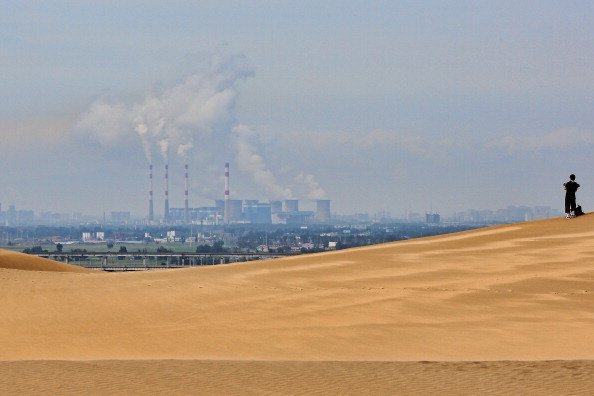 Sounding Sand Desert In Inner Mongolia
