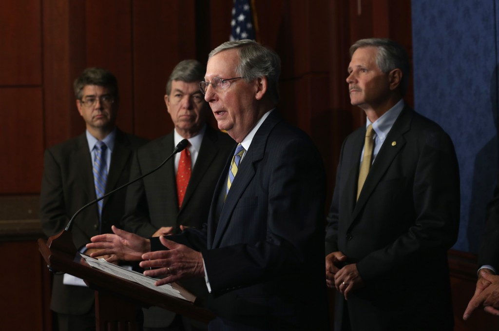 Senators Hold News Conference To Urge Obama To Approve Keystone Pipeline