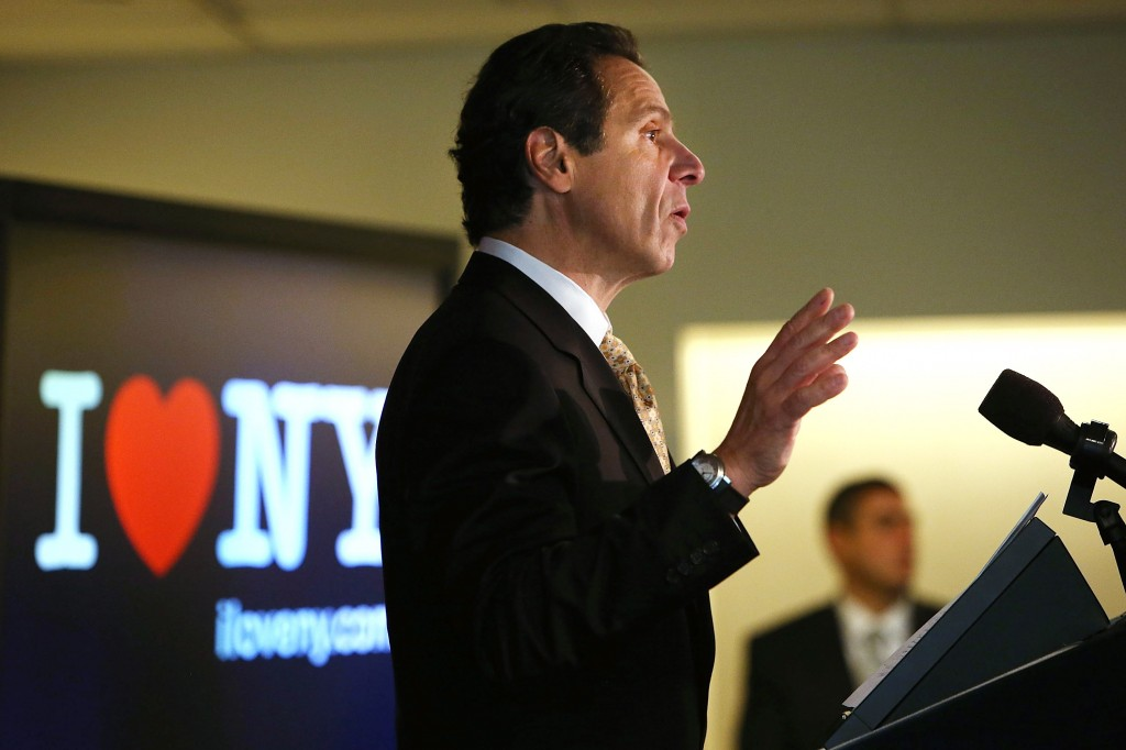 New York Gov. Cuomo Makes Announcement Regarding Superstorm Sandy And Tourism