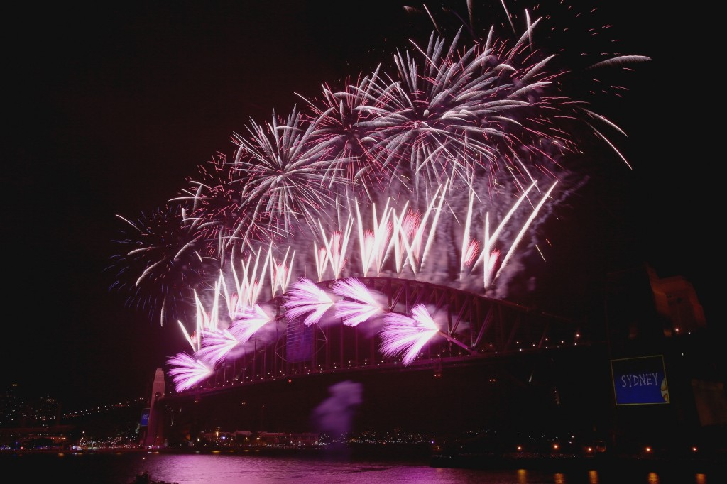 Sydney Celebrates With Fireworks On New Year's Eve