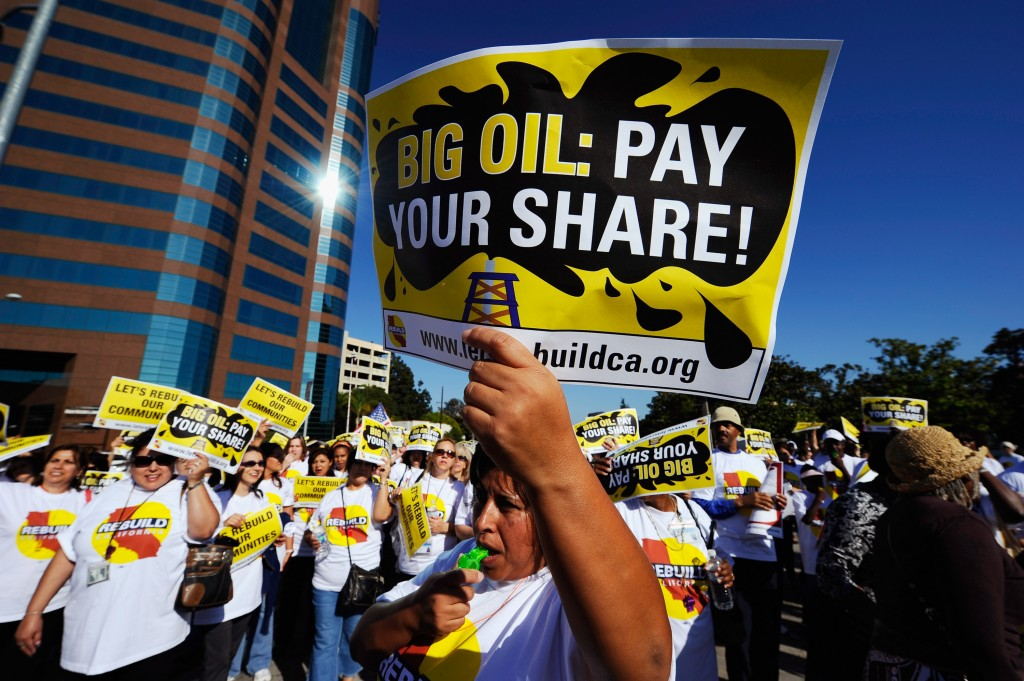 Activists Hold Demonstration Against California Big Oil Producers