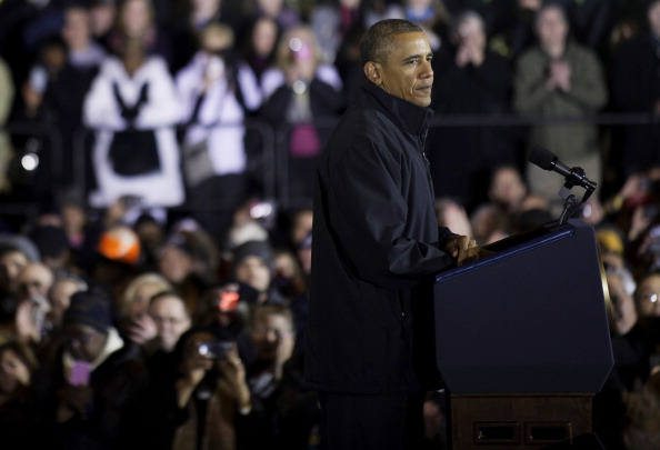 President Obama Delivers Economic Address At Steel Plant Near Pittsburgh