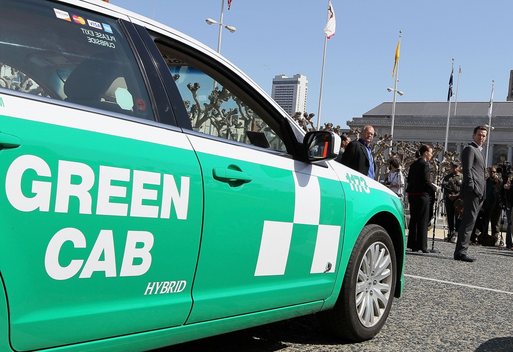 "Mayor Gavin Newsom Announces ""Green Cab Milestone"""