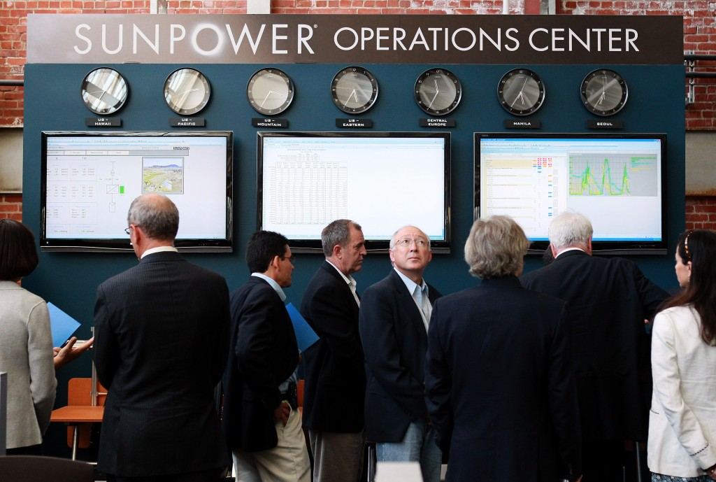 Ken Salazar Tours SunPower Research And Development Facility In California