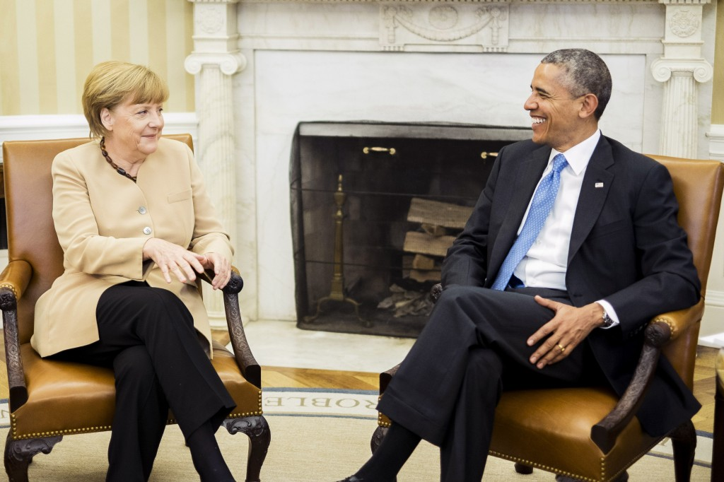 Obama And German Chancellor Merkel Hold Joint Press Conference At White House