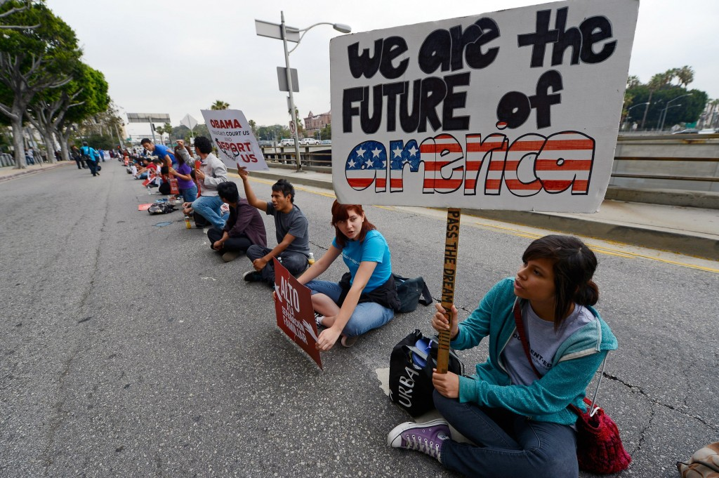 Immigration Activists Demonstrate In Los Angeles