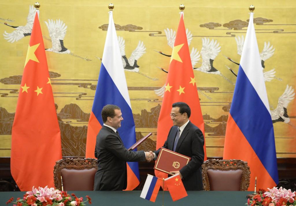 Russian Prime Minister Dmitry Medvedev Visits Beijing