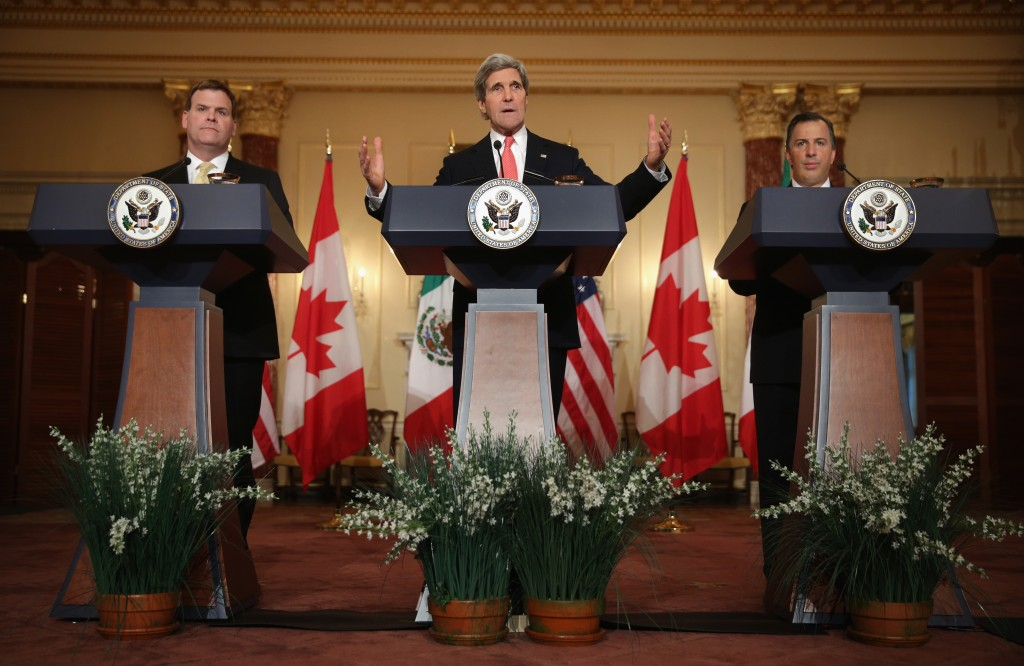 John Kerry Holds Trilateral Meeting With Canadian And Mexican Counterparts