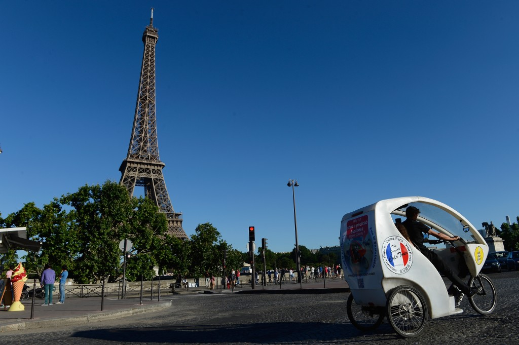 Bicycle Taxi In Paris