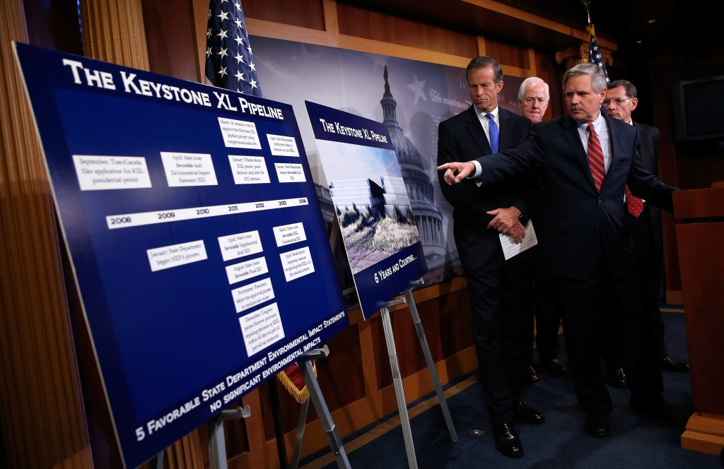 Senate Republicans Mark Anniversary Of Plan For Keystone XL Pipeline