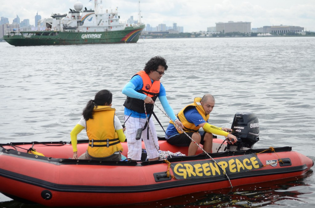 Greenpeace Ship Esperanza Conducts Water Sampling In Manila Bay