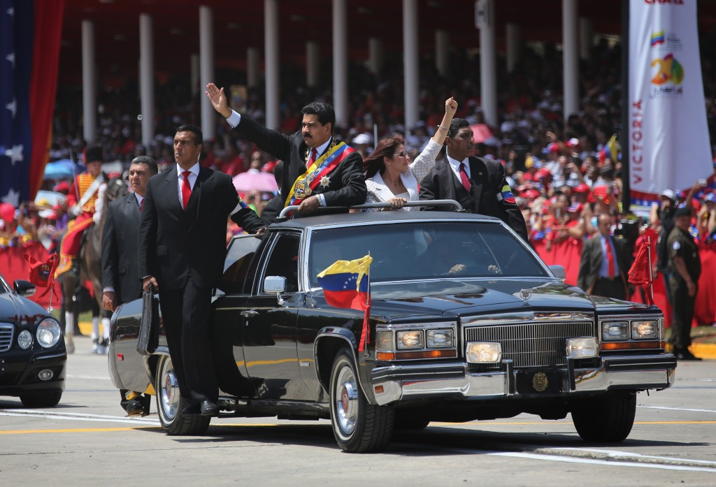 Venezuelans Loyal To Former President Hugo Chavez Mark One Year Anniversary Of His Death