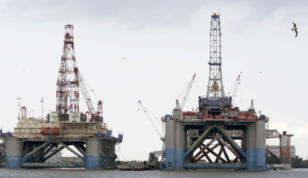 Oil Rigs Undergo Repairs After Hurrican Katrina