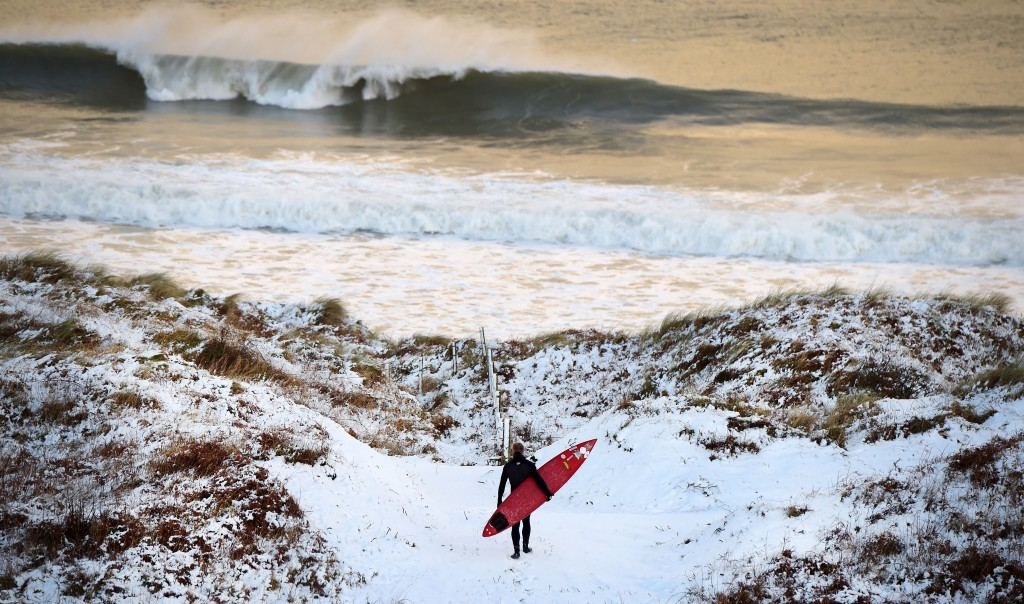 Snow And High Winds Hit The UK