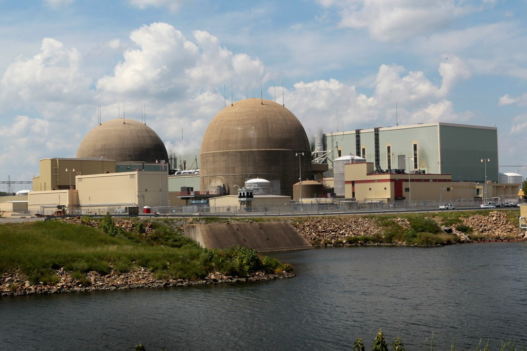 MINERAL, VA - AUGUST 24:  The North Anna Power Station operated by Dominion Energy remains offline after losing offsite power in the wake of yesterday's 5.8 earthquake August 24, 2011 near Mineral, Virginia. The epicenter of the quake, the East Coast's largest since 1944, was located a few miles outside of Mineral, a town of 430 people located about 50 miles west of Richmond and about 7 miles from the North Anna plant.  (Photo by Scott Olson/Getty Images)