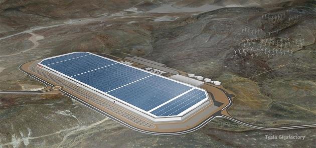 Gigafactory illustration from Tesla Motors.